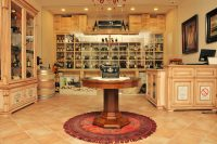 Na policama vinoteke se pored vina Vinarije Zvonko Bogdan mogu naći i druga vrhunska vina iz poznatih vinskih regija - Francuske, Španije, Italije i vina Novog Sveta. U ponudi se takođe nalazi i druga ekskluzivna roba kao što su šampanjci, konjak, viski, zatim domaće čokolade u specijalnim pakovanjima, ali i vinska oprema poput otvarača za vino, dekantera i vinske čaše poznate marke Riedel.